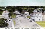 Bird's-eye View of Southport, N.C. Looking up Howe Street, North