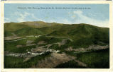 "Panoramic View Showing Route of the Mt. Mitchell Railroad, ""In the Land of the Sky."""