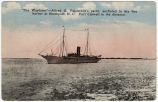 """The Wayfarer"" -- Alfred G. Vanderbilt's yacht, anchored in the fine harbor at..."