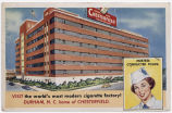 Visit the world's most modern cigarette factory! Durham, N.C. home of Chesterfield. Hostess...