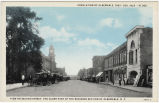 View on Second Street, the Older Part of the Business Section of Albemarle, N.C.
