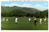 Linville Golf Course--1st Green, Course No. 2 and Club House, Linville, N.C.