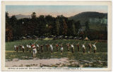 Setting up Exercise, The Chimney Rock Camp for Boys, Chimney Rock, N.C.