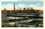 Cotton Mill and Falls on Tar River, Rocky Mount, N.C.