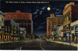 Main Street, at Night, Looking South, High Point, N.C.