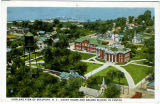 Airplane View of Beaufort, N.C., Court House and Graded School in Center