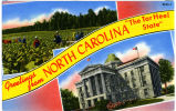 "Greetings from North Carolina ""The Tar Heel State"""