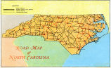 Road Map of North Carolina