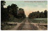 Railroad, looking West, Fairmont, N.C.