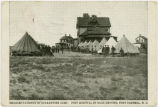 Measles Patients in Quarantine Camp. Post Hospital in Background, Fort Caswell, N.C.