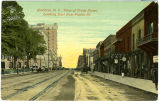 Charlotte, N.C., View of Trade Street, Looking East from Poplar St.