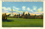 Field Artillery Troops Passing in Review, Post Chapel in Background, Fort Bragg near Fayetteville,...
