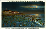 Ocean Terrace Hotel and Bathers at Night, Wrightsville Beach, N.C.