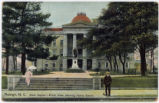 Raleigh, N.C. State Capitol--Front View, showing Vance Statue