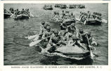 Raiders (Faces Blackened) in Rubber Landing Boats- Camp Lejeune, N.C.