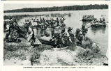 Raiders Landing from Rubber Boats- Camp Lejeune, N.C.