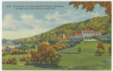 Grove Park Inn and Asheville Country Clubhouse As Seen from Golf Course in Early Fall
