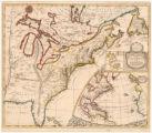 A new map of the English empire in America viz Virginia, New York, Maryland, New Jersey, Carolina,...