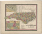 A new map of Nth. Carolina: with its canals, roads & distances from place to place, along the...