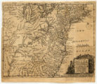 A Map of the British American Plantations extending from Boston in New England to Georgia,...