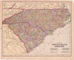 Map of North & South Carolina.