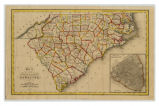 Map of the States of North & South Carolina