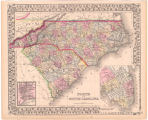 North and South Carolina Entered according to Act of Congress in the year 1870 by S. Augustus...