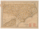 Rand McNally standard map of North Carolina