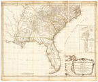 A general map of the southern British colonies in America, comprehending North and South Carolina,...