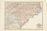 Cram's railroad and county map of Nth & Sth Carolina