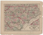New railroad and county map of North Carolina