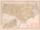 The Rand-McNally new commercial atlas map of North Carolina
