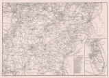 Map of Southern Freight Association railroads and steamship lines