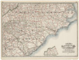 Cram's railroad & township map of Nth and Sth Carolina