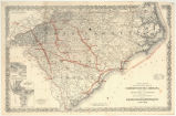 Special edition of Colton's map of North and South Carolina and parts of Tennessee and Georgia...
