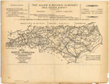 Map of North Carolina including all railroads in operation and construction