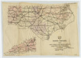 Highway map of North Carolina prepared by the North Carolina State Highway Commission for the five...