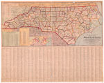 The Hudgins Company's new survey Map of North Carolina