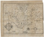 [Facsimile of de Bry's map of Lanes expedition]
