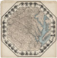 [Octagonal map of eastern Virginia and part of North Carolina]