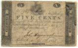 Five-cent treasury note, 1815