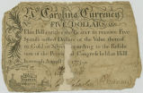 Five dollar bill of credit, 1775,...