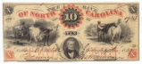 Bank of North Carolina ten-dollar note, 1859
