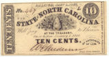 North Carolina ten-cent treasury note, 1863