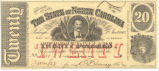 North Carolina twenty-dollar treasury note, 1863
