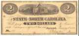 North Carolina two-dollar treasury note, 1863