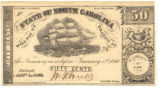 North Carolina fifty-cent treasury note, 1863