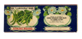 Produce label, Our Carolina Bran string beans